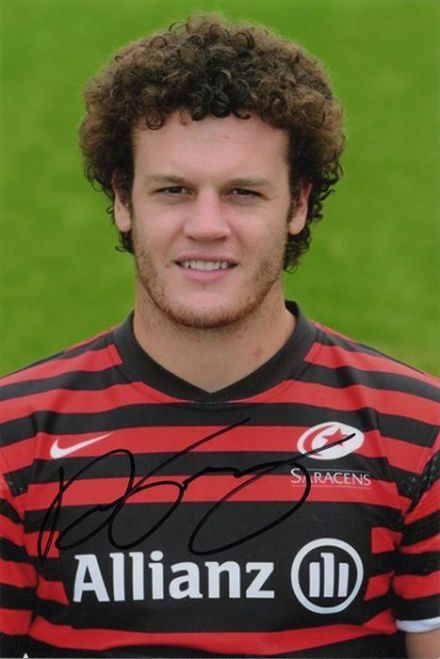 Duncan Taylor, Saracens & Scotland, signed 6x4 inch photo.
